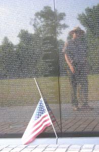Ranger Reflection in Vietnam Memorial1583